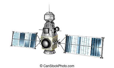 image of man-made satellite