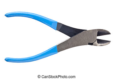 Image of metal wire cutter isolated on white background