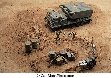 military toy tracked vehicle - Image of military toy tracked...