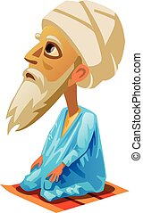 vector illustration of Mohammed on a white background
