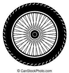 image of motorcycle wheel vector