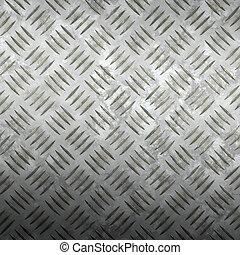 tread plate - image of old worn iron tread plate