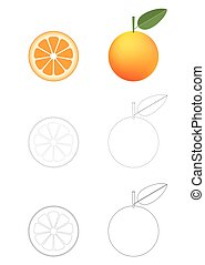 Oranges coloring pages