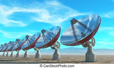 image of parabolic antenna