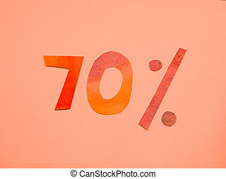 image of percent sign discount.