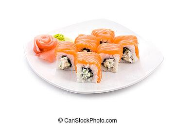 Philadelphia maki - Image of Philadelphia maki sushi rolls ...