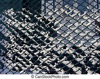 mesh fence winter
