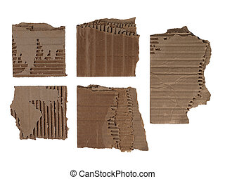 pieces of corrugated cardboard