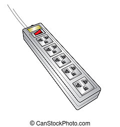image of plug sockets vector isolated on background