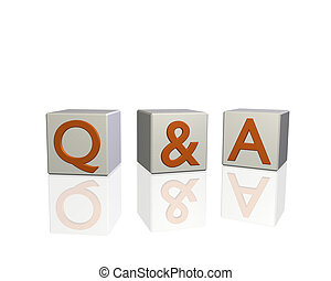 Q&A - Image of Q&A (questions and answers) on 3d blocks ...
