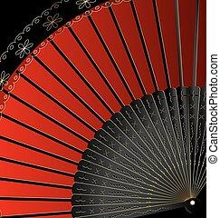 image of red fan