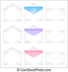 Image of sample envelopes isolated on a white background.