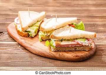 Image of sandwiches with toothpicks