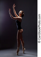 Image of sensual young ballerina in erotic costume