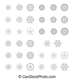 set of alloy wheel vector