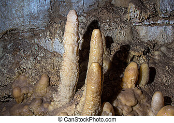 Image of stalagmites in the cave
