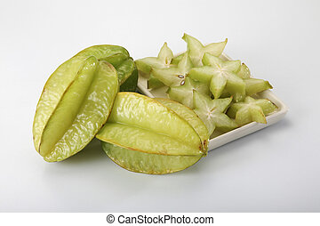 star fruit - image of star fruit on the plain background