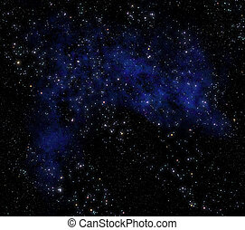 deep space - image of stars and nebula clouds in deep space