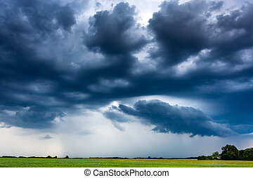 Image of storm clouds at summer