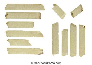 Masking Tape - Image of striped Masking Tape isolated on...