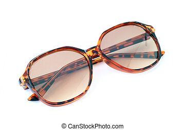 Image of sunglasses on a white background.