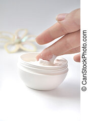image of taking hand cream
