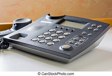 telephone with receiver off hook