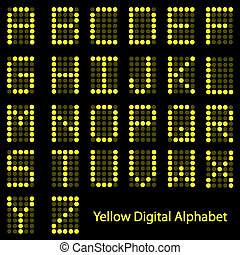 Image of the alphabet in a digital font.