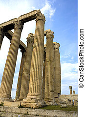 Image of the ancient Temple of Zeus, Olympia, Greece.