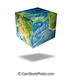 earth square globe