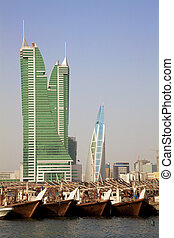Image of the Financial Harbour, Manama, Bahrain.