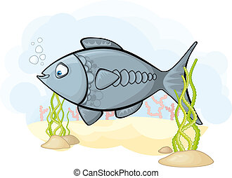 Image of the fish in the sea