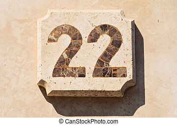 Image of the house number 22