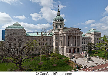 Indiana Capitol Building. - Image of the Indiana Capitol...