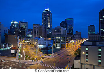 Indianapolis - Image of the Indianapolis skyline and streets...