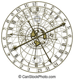 metal astronomical clock - Image of the metal astronomical ...