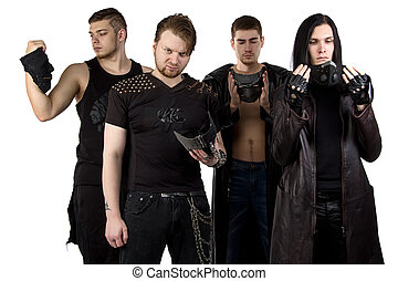 Image of the metal band in black clothes