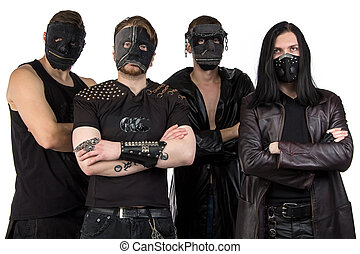 Image of the metal band in masks