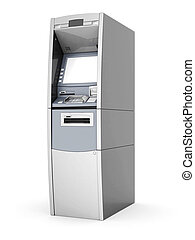 image of the new ATM on white background