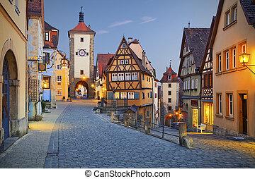 Rothenburg ob der Tauber - Image of the Rothenburg ob der...