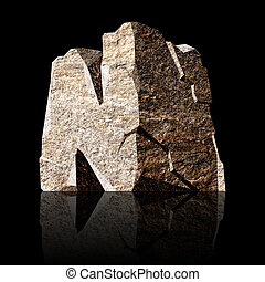 stone letter N