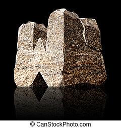 stone letter W
