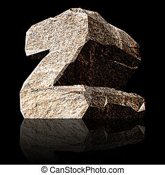 stone letter Z