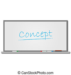 "Image of the word ""Concept"" written on a dry erase board isolated on a white background."