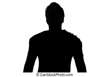Image of the young man's silhouette