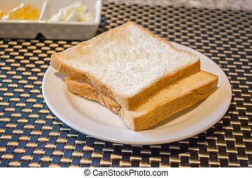 image of toast on the table
