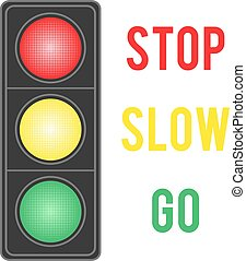 Image of traffic light isolated on white background.