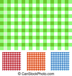 Image of various colorful checker pattersn.