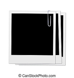 Image of various polaroids isolated on a white background.