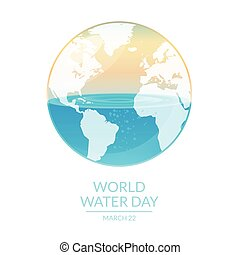 world water - Image of world water day campaign. Vector...
